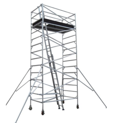 Mobile Aluminum Scaffold Tower With Stairway