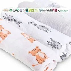 Organic Printed Baby Swaddles