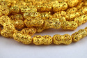Copper Melon Beads Center Drilled Gold Plated Antique Beads