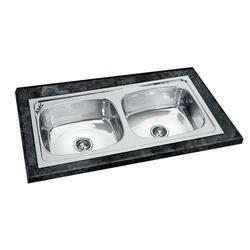 45x20x9 AMC Double Bowl Sink
