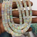 Natural White Ethiopian Welo Opal Faceted Heishi Beads Tyre