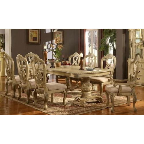 Anime Royal Dining Room: Brown 8*4 Feet Royal Dining Table Set, Rs 185000 /set