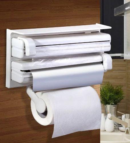 e5c526696a2 Kitchen Triple Paper Roll Dispenser  Holder For Kitchen