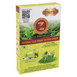 Zingysip Premium Tulsi Green Tea With Ginger -100 Gm. - Prepare in 5 Seconds