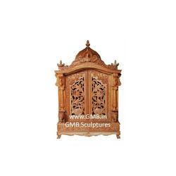 Interior Wooden Temple from Teak Wood