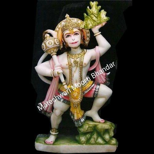 Mateshwari Moorti Bhandar Marble Lord Hanuman Statue, For