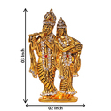 Gold Plated Krishna Studded with Stone Car Dashboard Statue