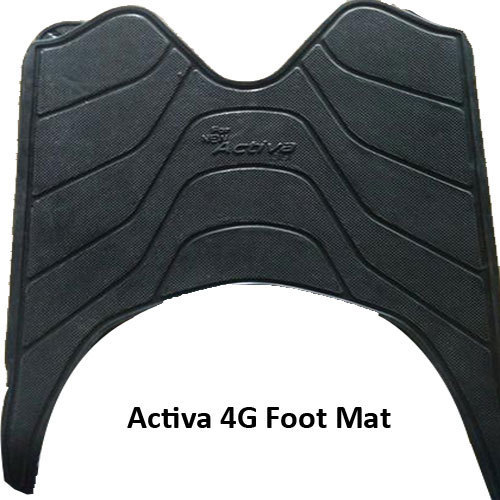 Black Rubber Activa 4G Foot Mat