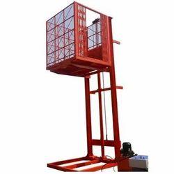 Goods Lift With Crane