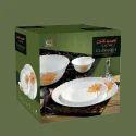 "Glassware Material Oplaware Dinner Set 19 Pcs Laopala Diva, Size: 11"""
