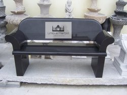 Black Granite Bench