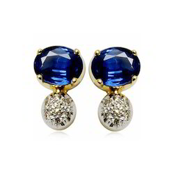 Genuine Blue Sapphire Earrings for Young Girls