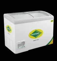 300 L Western Curve Glass Deep Freezer With LED, Model Name/Number: WHF325GC, Temperature Range: -17a Degreec To -22a Degreec