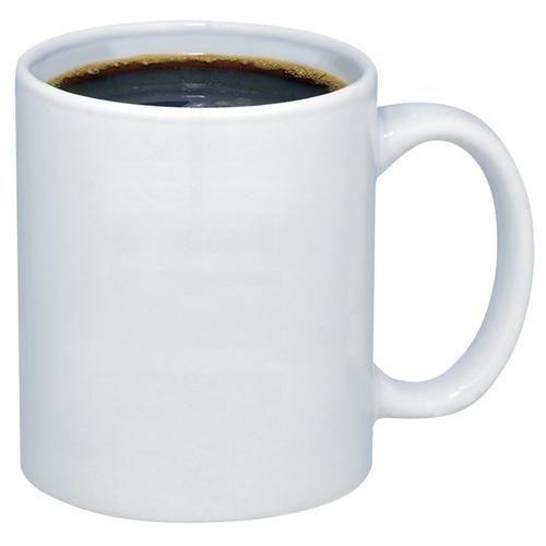 White Ceramic Coffee Mug Size 200ml