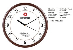 Customized 9 Wooden  Wall Clock