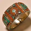Adjustable Handmade Multi Color Tibetan Gemstone Bangle