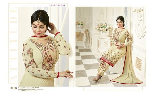 Georgette Printed Unstitched Salwar Suit