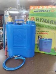 HYMARK Blue Hand and Battery Operated Spray Tank, For Spraying, Capacity: 16 liters