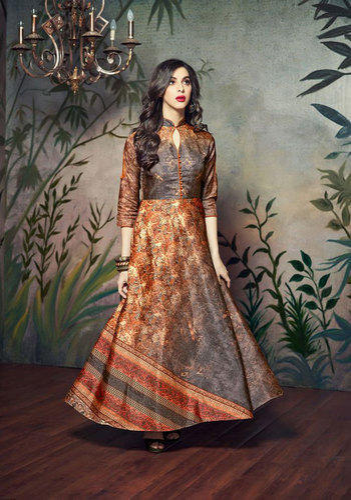 2770313293 Saree Exotica Multi Color Manipuri Silk Gown, Rs 995 /piece | ID ...