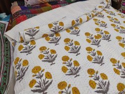 Hand Block Printed Kantha Quilts Bedspread