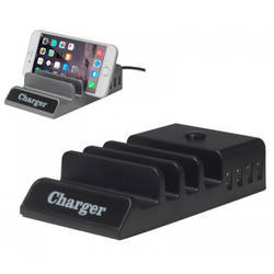 4 Port Charger With Mobile Stand