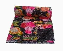 Patched Printed Kantha Bedspread