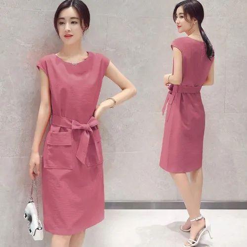 Cotton Linen Midi Breathable Dress