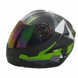 Polycarbonate, Fiberglass Aaron Full Face Helmet, Size: XL