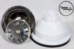 White PVC Sink Waste Coupling, For Bathroom Fitting