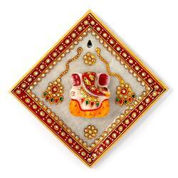 Lord Ganesha Marble Hanging Plate 378