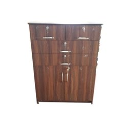 Hinged Brown Wooden Cabinet, For Home, Office