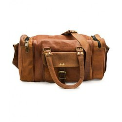 Brown Trendy Leather Duffel Bag 24090abfc8643