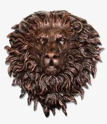 Lion Face Fiber Wall Mural