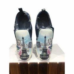 Casual Printed Ladies Canvas Shoe