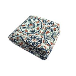 King Size Indian Hand Block Print Cotton Kantha Quilt Blanket Bedspread Throw