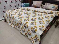 Hand Block Printed Kantha Jaipuri Quilts