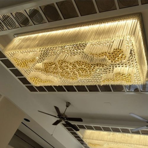 Ceiling Mounted 2 3 Feet Electric, Rectangular Shaped Chandeliers