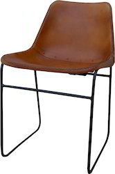 Kernig Krafts Brown & Black Leather/canvas Cafe Chair, Size: 18-30 Inch, Seating Capacity: 1