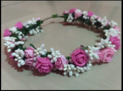 The hand krities pink and white floral crown tiara rs 199 piece the hand krities pink and white floral crown tiara mightylinksfo