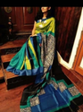 Block Printed Murshidabad Silk Saree