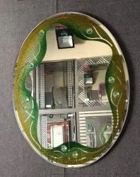 Oval Mirror Glass
