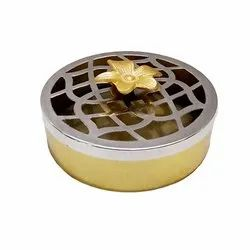 RGN Silver & Gold Metal Cookies Jar, Capacity: 1 kg, Size/Dimension: 6inch X 2inch