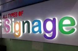 Rectangular and Square Acrylic Back Lit Signage