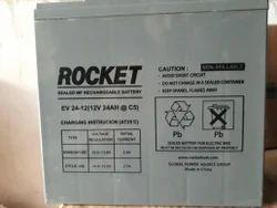 Rocket E Bike Dry Charged Battery EV - 24, Capacity: 24 Ah
