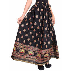 Cotton Jaipuri Polka Dot Skirts