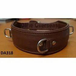 Brown Leather Dog Collars