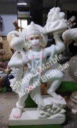 Marble Veer Hanuman Statue