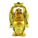 Fancy Feng Shui Laughing Buddha Golden Showpiece