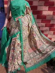 Cotton Malmal Madhubani Printed Sarees