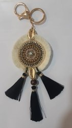 Kavita Fashions Long Embroidery Tassel Key Chain., Packaging Type: Polybags, Size: 5 Inches